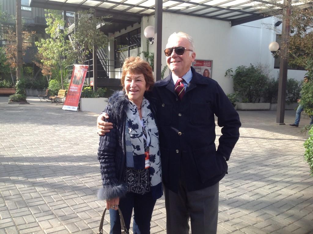 Lic. Herrera con el Salvatore Parisi - Director de la Escuela Romana de rorschach